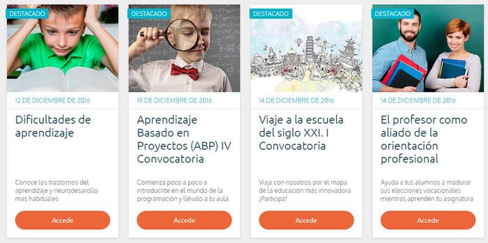 Resultado de imagen de 10 plataformas online donde encontrar cursos para profesores