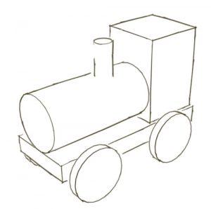 boceto tren madera